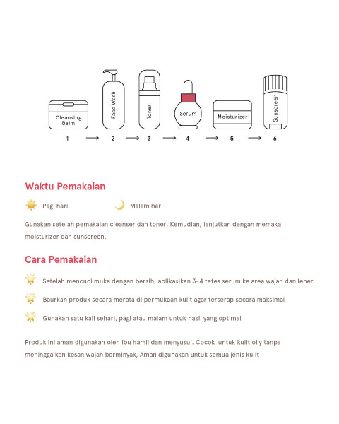 Dear Me Beauty Single Activator Face Serum- 10% Niacinamide + Watermelon Extract (12ml)