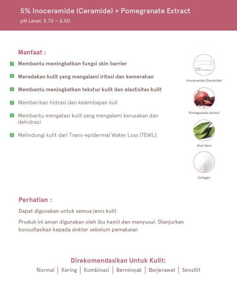 Dear Me Beauty Single Activator Face Serum - 5% Inoceramide + Pomegranate Extract (32ml)