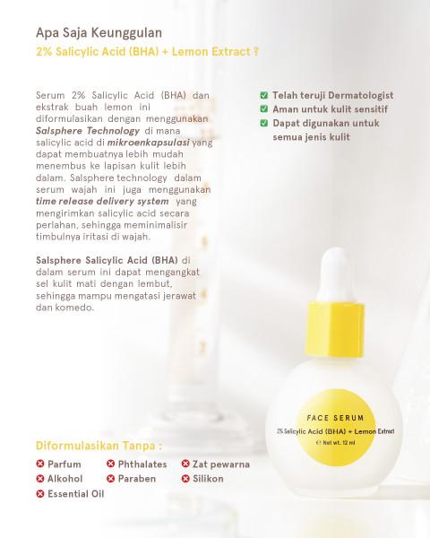 Dear Me Beauty Single Activator Face Serum- 2% Salicylic Acid (BHA) + Lemon Extract (12ml)
