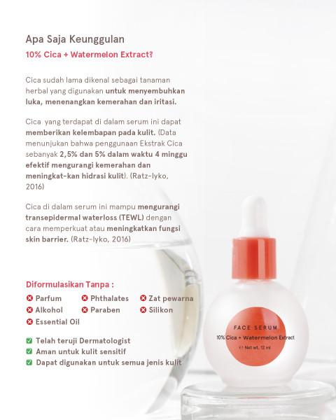Dear Me Beauty Single Activator Face Serum - 10% CICA + Watermelon Extract (32ml)