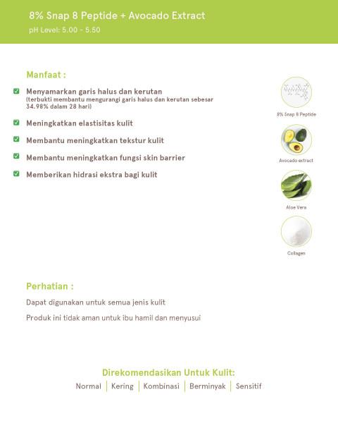 Dear Me Beauty Single Activator Face Serum - 8% Snap 8 Peptide + Avocado Extract (12 ml)