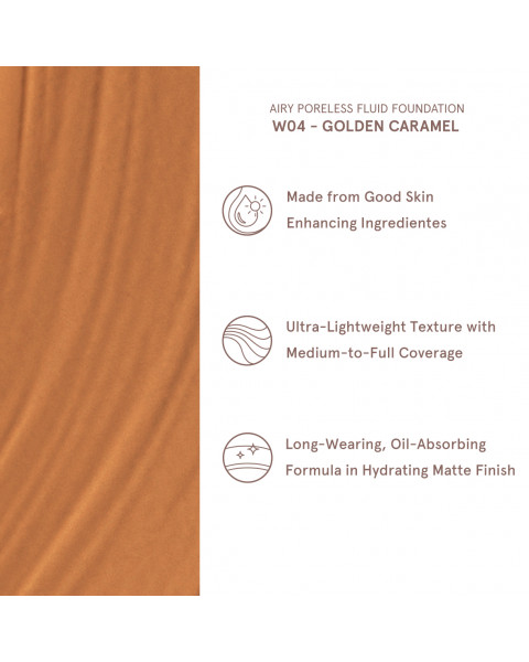 Airy Poreless Fluid Foundation - Golden Caramel