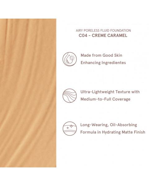 Airy Poreless Fluid Foundation- Creme Caramel