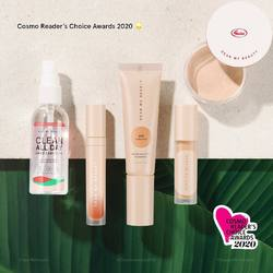 2020 has been a great year for us. We're truly humbled and honored to be up for many nominations on Indonesia's major beauty awards, including this super special one The Cosmo's Reader Choice Awards 2020 by Cosmopolitan Indonesia 💛⠀ ⠀ We'd love you to be a part of this celebration! If you love our products as mush as we do, please go vote for us in 5 nominations including:⠀ ⠀ 🌟 Best Concealer⠀ 🌟 Best Face Powder⠀ 🌟 Best Lip Cream⠀ 🌟 Best Hand Sanitizer⠀ 🌟 Best Local Hype⠀ ⠀ The voting starts TODAY, visit our Story Highlight, and swipe up to vote! Your support means the world to us 💛⠀ ⠀ -⠀ ⠀ 2020 menjadi tahun yang bermakna untuk Dear Me Beauty, dimana kami merasa terhormat telah dinominasikan pada banyak acara penghargaan industri kecantikan Indonesia, terutama acara spesial The Cosmo's Reader Choice Awards 2020 by Cosmopolitan Indonesia 💛⠀ ⠀ Kami ingin kalian semua menjadi bagian dari selebrasi ini! Jika selama ini Dear Me Beauty menjadi produk favorit kalian, yuk bantu kami dengan voting di 5 nominasi berikut:⠀ ⠀ 🌟 Best Concealer⠀ 🌟 Best Face Powder⠀ 🌟 Best Lip Cream⠀ 🌟 Best Hand Sanitizer⠀ 🌟 Best Local Hype⠀ ⠀ Voting dimulai hari ini, info lengkap ada di story highlight ya lengkap dengan link swipe up untuk voting! Terimakasih banyak atas dukungan kalian 💛⠀ .⠀ #DearMeBeauty #BeautyReinvented